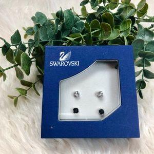 ✨ NWT Swarovski Crystal and Silver Earrings ✨